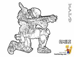 Halo 3 Coloring Pages Heavy Halo Reach Coloring Free Halo Reach