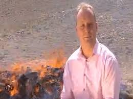 Quentin Sommerville Gets High While Reporting Next To Pile Of Burning Drugs