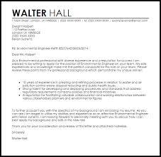 Environmental Engineer Cover Letter Sample