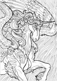 Majestic Unicorn And Complex Background