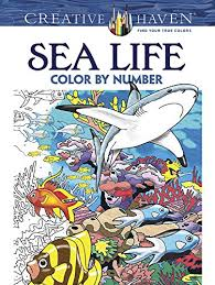 Creative Haven Sea Life Color By Number Coloring Book Adult