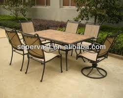 amazing tile top patio table and l