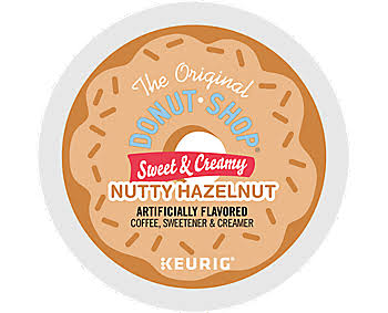 The Original Donut Shop Sweet and Creamy Hazelnut Keurig K-Cup Pods - 16ct