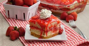 Strawberry Shortcake Squares Are Everything the Classic Dessert Is