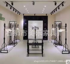 2018 WomenS Clothing Store Boutique Shelves Display Rack Side Floor Wrought Iron Wall Hanging Racks In The Island W From Xwt5242