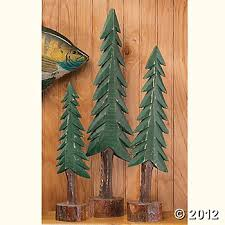 Bring The Outdoors Into Your Lodge Look Room With A Trio Of Decorative Pine Trees