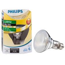 philips ecovantage 40w 65w br30 halogen dimmable indoor flood