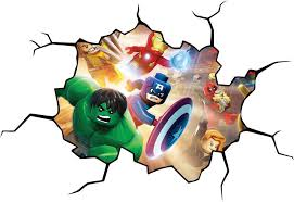Vintage Superhero Wall Decor by Lego Dc Super Heroes Cracked Wall Or Window Effect Decal Sticker