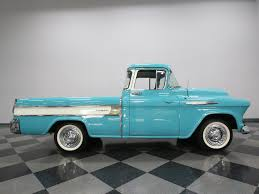 1957 Chevrolet Cameo | Streetside Classics - The Nation's Trusted ... 1957 Chevrolet Cameo Carrier 3124 Halfton Pickup Chevrolet Cameo Streetside Classics The Nations Trusted 1955 Pickup Truck Stock Photo 20937775 Alamy Rare And Original Carrier Pickup Sells For 1400 At Lambrecht Che 1956 3100 Volo Auto Museum 12 Ton Chevy Cameo Gmc Trucks Antique Automobile Club Of Sale 2013036 Hemmings Motor News On The Road Classic Rollections 1958 Start Run External Youtube Chevy Forgotten Truckin Magazine
