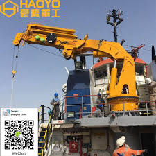 100 Ccs Decks HAOYO Fully Telescopic Knuckle Boom Deck Crane With ABS CCS