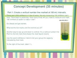 100 milliliters to liters math module 2 lesson 10