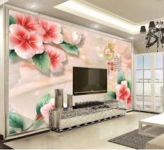 100 Decorated Wall Custom Retail 3D Embossed Home And Rich Dream Flowers Beautifully