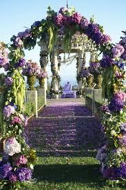 Amazing Purple Wedding Ceremony Entrance Gorgeous Aisle Decors