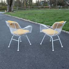 Vintage Russell Woodard Patio Furniture by Pair Of Russell Woodard Sculptura Large Patio Chairs Iron