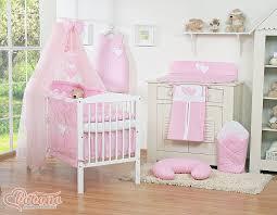 chambre bebe fille complete parure lit bébé pas cher complète fille coeur 12 pièces
