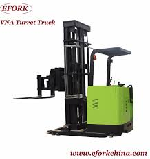 100 Turret Truck Very Narrow Aisle Forklift Stacker Electric Vna 1500 Kg
