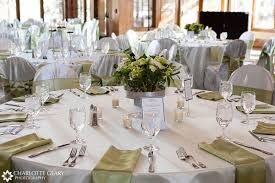 Modern Concept Table Settings For Weddings With Wedding Reception Set In Green And