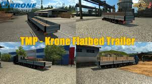 TMP - Krone Flatbed Trailer V1.0 By Satan19990 (1.30.x) » ETS2 Mods ... Renault Premium With Autoload V20 Farming Simulator Modification Cm Truck Beds At Tmp Innovate Daimler 00 Trailer Ets2 Oversize Load 2 R 12r 130 Euro Simulator Chemical Cistern Mods Youtube Speeding Freight Semi Truck With Made In Sweden Caption On The Jumbo Pack Man Fs15 V11 Cistern Chrome V12 Trailer Mod