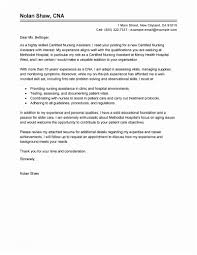 Certified Nursing Assistant Cover Letter Free Resume Objective Of