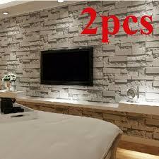 graue steintapete wohnzimmer 3d wallpaper für wände