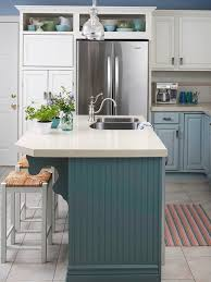 Give A Kitchen Fresh Color With Blue Green Island More Islands We