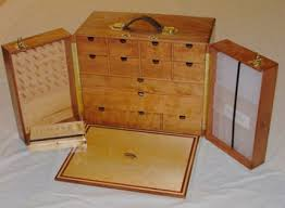 Fly Tying Table Woodworking Plans by Custom Built Wooden Fly Tying Box With Thread Storage Tool Holder
