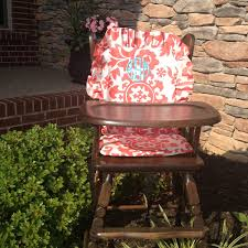 Eddie Bauer Wood High Chair Cover by Eddie Bauer Wooden High Chair Pad Replacement Cover Butterflies