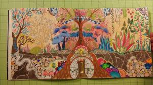 The Enchanted Forest By Johanna Basford Adult Coloring Book Review Flip Through
