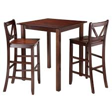Parkland 3 Piece Set High Table With V Back Bar Stools ...