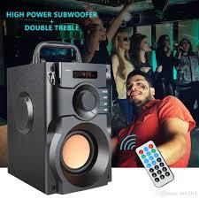 A100 Big Power Bluetooth Speaker Wireless Stereo Subwoofer Heavy ...