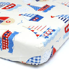 Nautical Crib Bedding by Amazon Com Cuddly Cubs Fitted Crib Sheet For Boys Soft Nursery