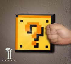 Mario Bros Question Block Lamp 16 mario coin box lamp 8 bit games nimish tanna lefiltredumonde com