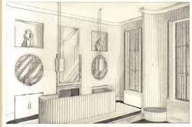 The Walls Were Fluted Plaster Painted Flat White Floor Was Beige Henna And Terrazzo Window Door Trim