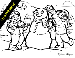 Winter Scene Coloring Pages Free For Adults Archives Page Download