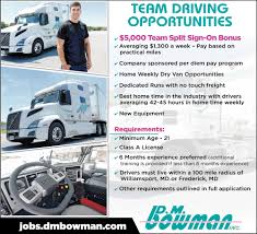 Team Driving Opportunities, D M Bowman, Williamsport, MD Otr Drivers Need Mainly Midwest To Northeast Truck Driver Jobs In America Google Truckdriverfishingprogram Service One Transportation Uber And Lyft Are A World Of Trouble If This New Study Is Highest Paying Trucking Companies For Owner Operators Best Resume For Beautiful Experience Free Start Your Business With Easy Find Loads Through Ezlinq Ldboards Page 2 The Classic Pickup Buyers Guide Drive That Pay Cdl Traing In Pa
