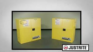 Flammable Safety Cabinet 45 Gal Yellow by Safety Cabinets Self Close Vs Manual Close Youtube