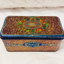 Daher Decorated Ware History by Vintage Grennan Fruit Cake Tin Box By Tindeco 1930s Art Deco