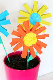 Easy Paper Flowers For Kids