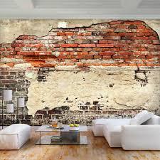 details zu vlies fototapete stein tapeten mauer zigel tapete wandbilder wohnzimmer 3far