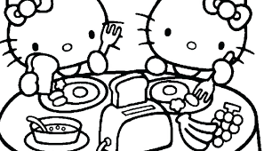 Inspiring Hello Kitty Printable Coloring Pages Print Page Kids