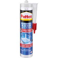 pattex schimmel blocker silikon mit 4 fach aktiv schutz weiß 300 ml