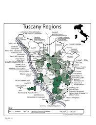 Italy Map Tuscany Region Wine