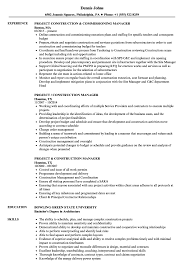 Download Project Construction Manager Resume Sample As Image File