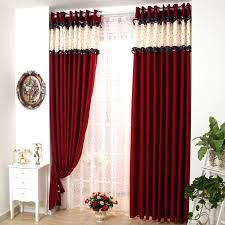Red Curtains For Living Room Black And Pleasant Idea