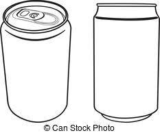 beverage can outline vector vector illustration of blank