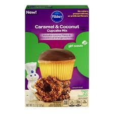 Pillsbury Girl Scouts Cupcake Mix Caramel Coconut 132 Oz From