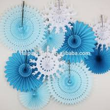 Wholesale Hanging Tissue Paper Fans Pompoms Lantern For Wedding Decoration Party Baby Shower