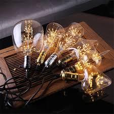 e27 vintage led light bulb st65 220v 3w retro edison led filament