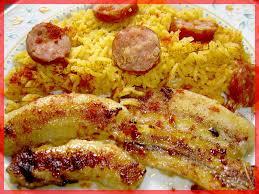 cuisiner des saucisses fum馥s riz brésilien aux bananes et saucisses fumées poétiquement gourmande