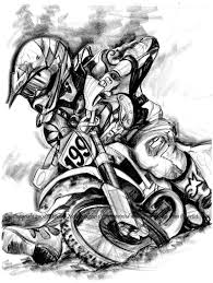 Travis Pastrana Original Illustration Rendering Honda Racing Etsy Motocross TattooMotorcycle